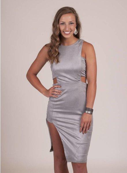 Ariel Faux Suede Cutout Dress