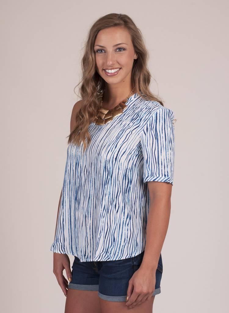 Ruth Wavy Tie Dye One Shoulder Top