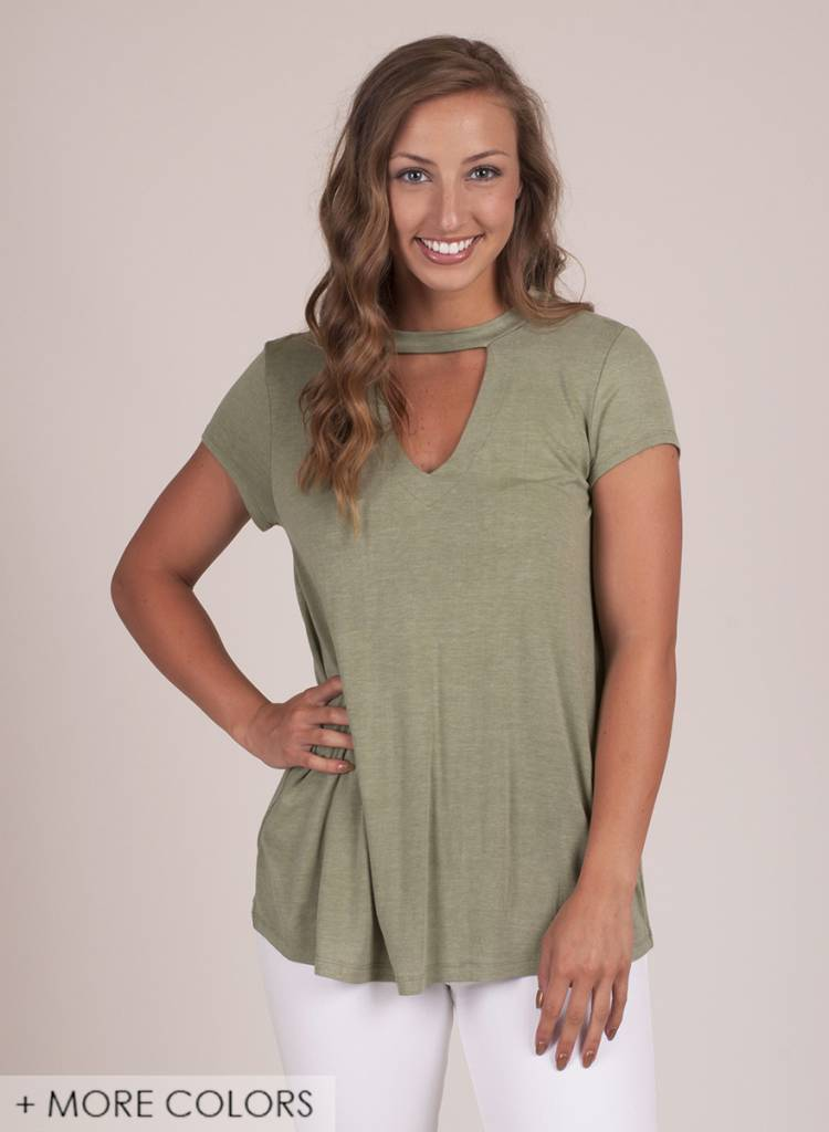 Waverly S/S Cutout Front Top