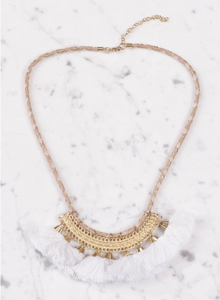 Ann Paige - Caroline Tassel Collar Necklace