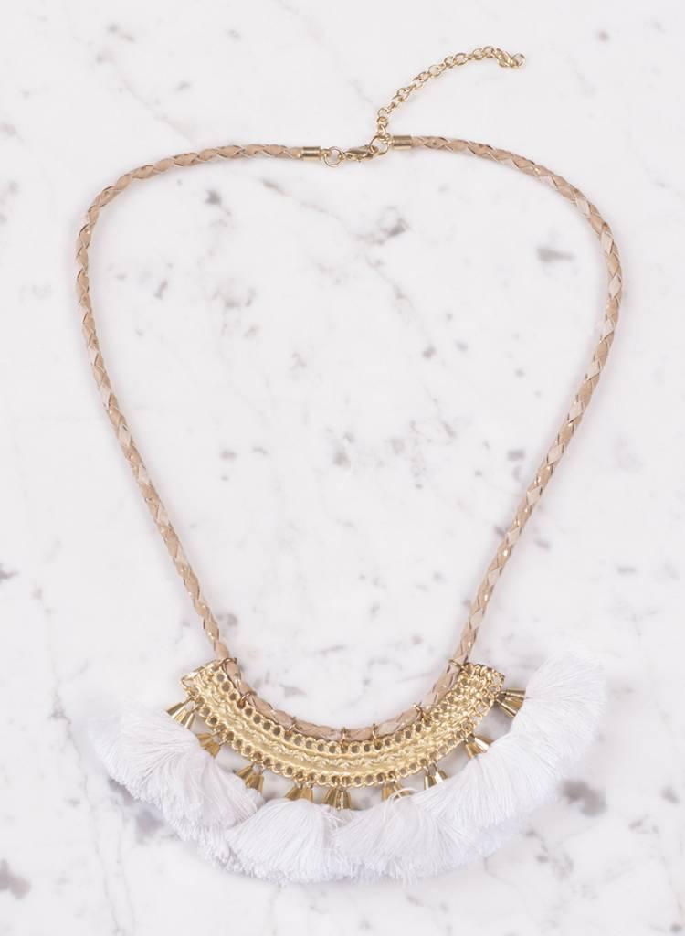 Ann Paige - Caroline Tassel Collar Necklace