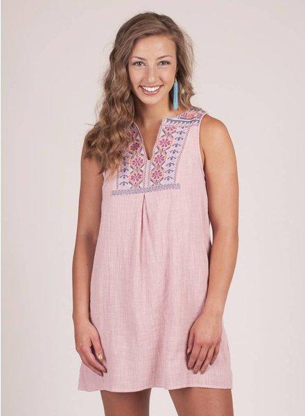 Kai S/L Embroidered Shift Dress