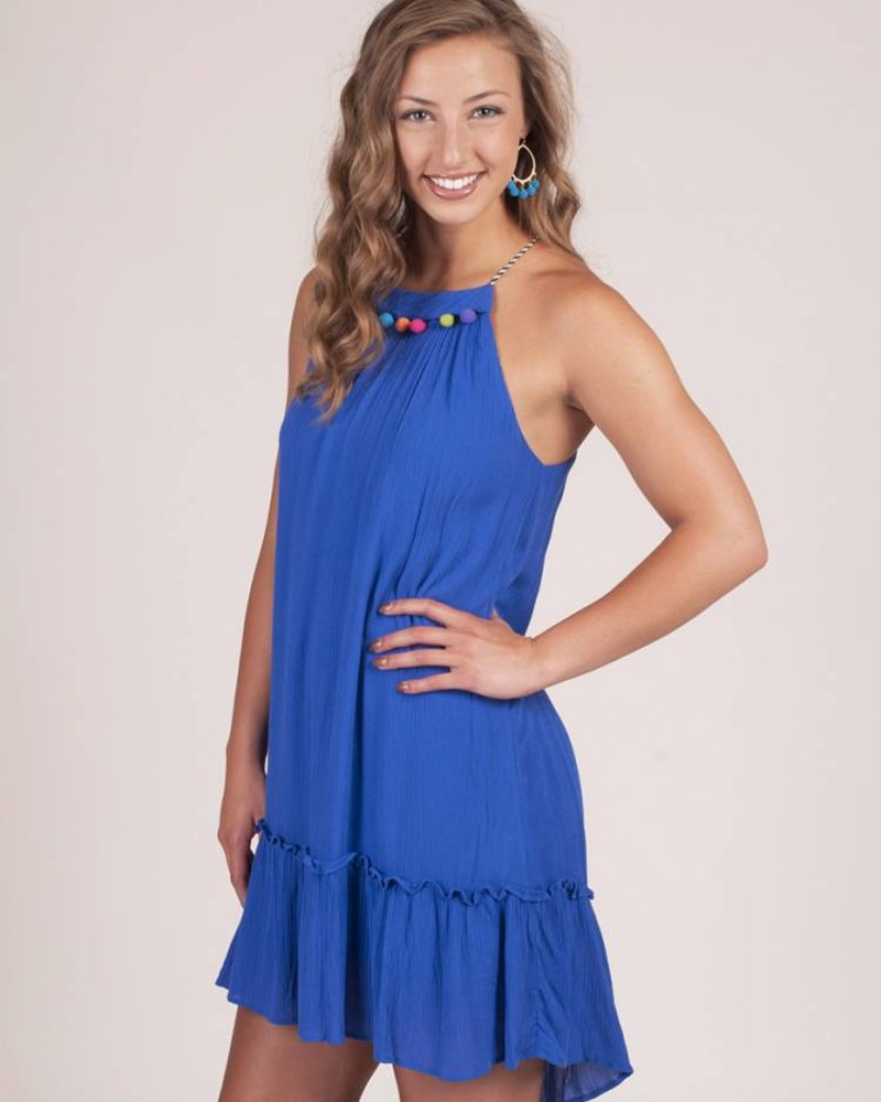 Wynn Loose Ruffle Pom Dress