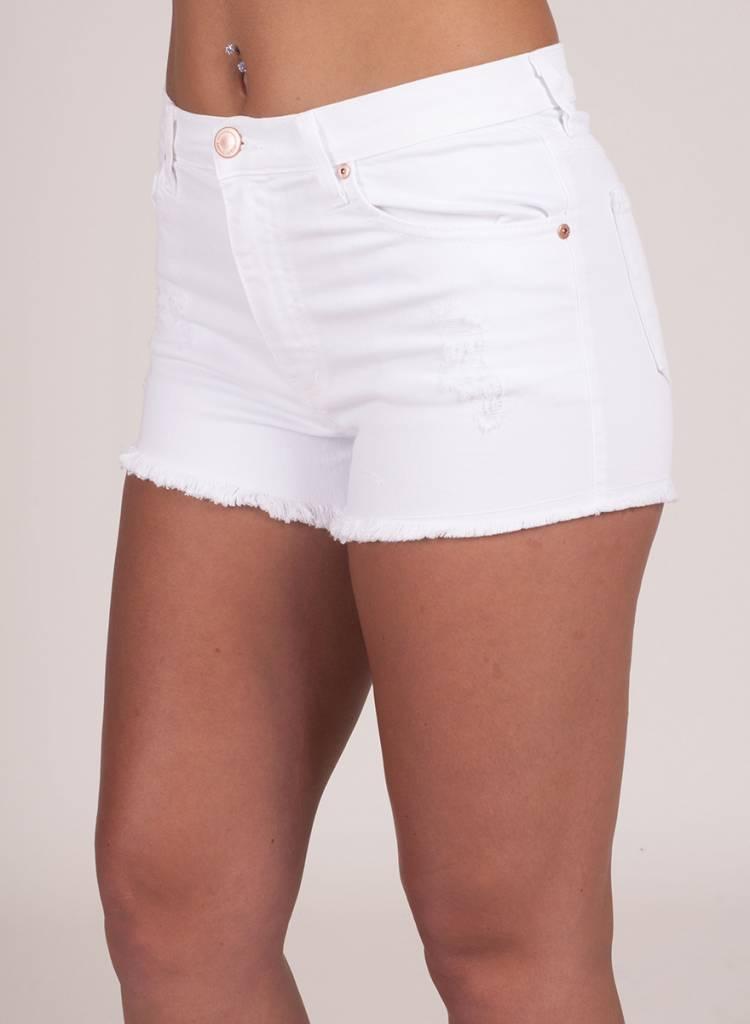 Tillie Distressed Denim Shorts