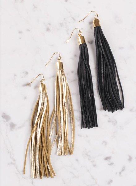 Ann Paige - Hope Leather Tassel Earring