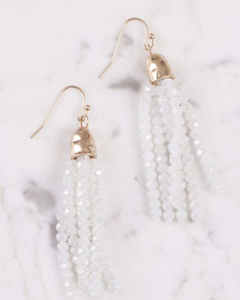 Ann Paige - Briley Beaded Tassel Earring