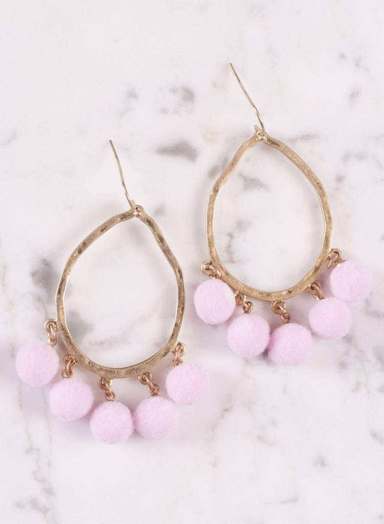 Ann Paige - Kacey Pom Pom Earring
