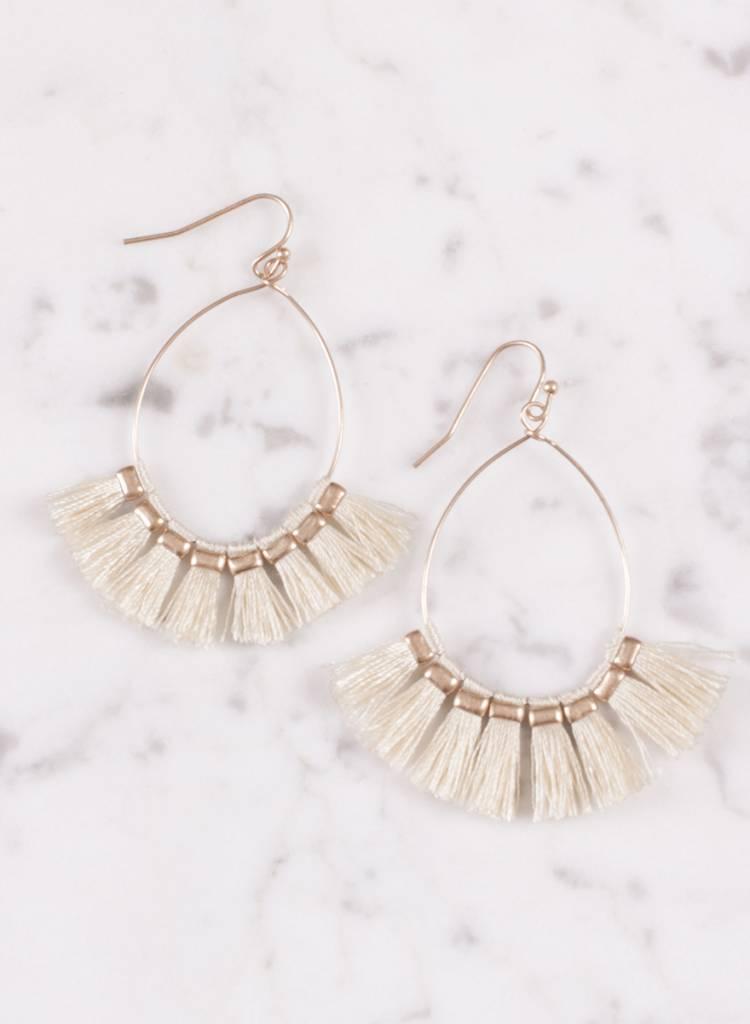 Ann Paige - Jenson Fanned Tassel Earring