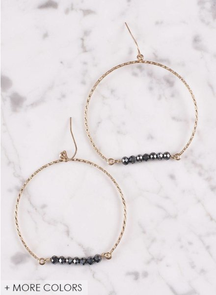 Ann Paige - Brantley Beaded Hoop Earring