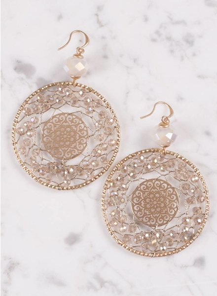 Ann Paige - Lucille Large Rhinestone Earring