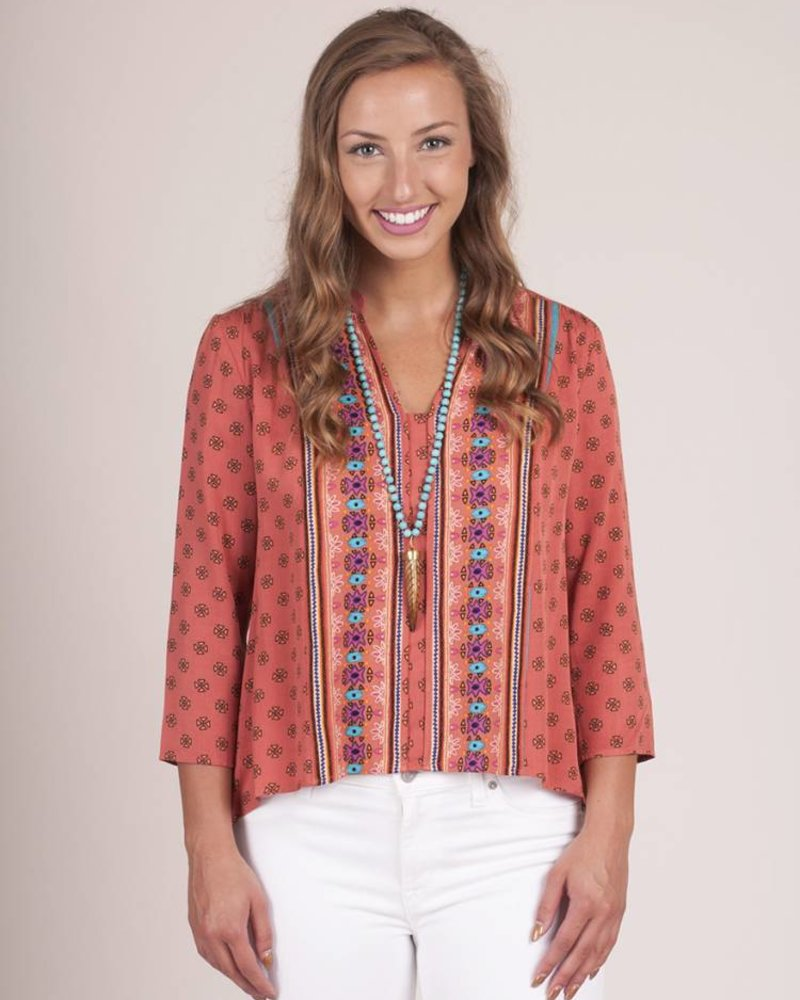 Jack by BB Dakota - Bathilda Print Top