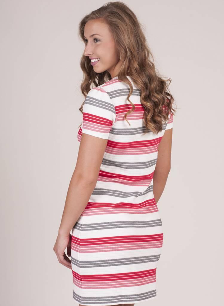 Jack by BB Dakota - Lijah Striped Lace Up Dress