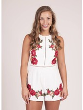 Carlene Rose Embroidered Romper
