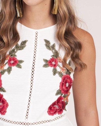 Carlene Rose Embroidered Romper