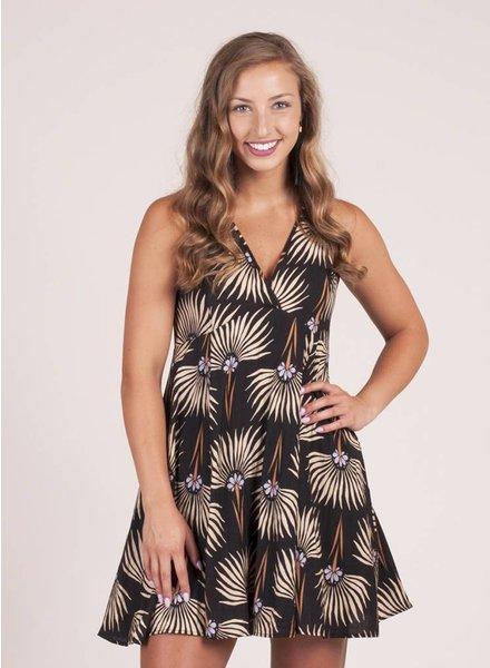 Evelyn S/L Print Skater Dress