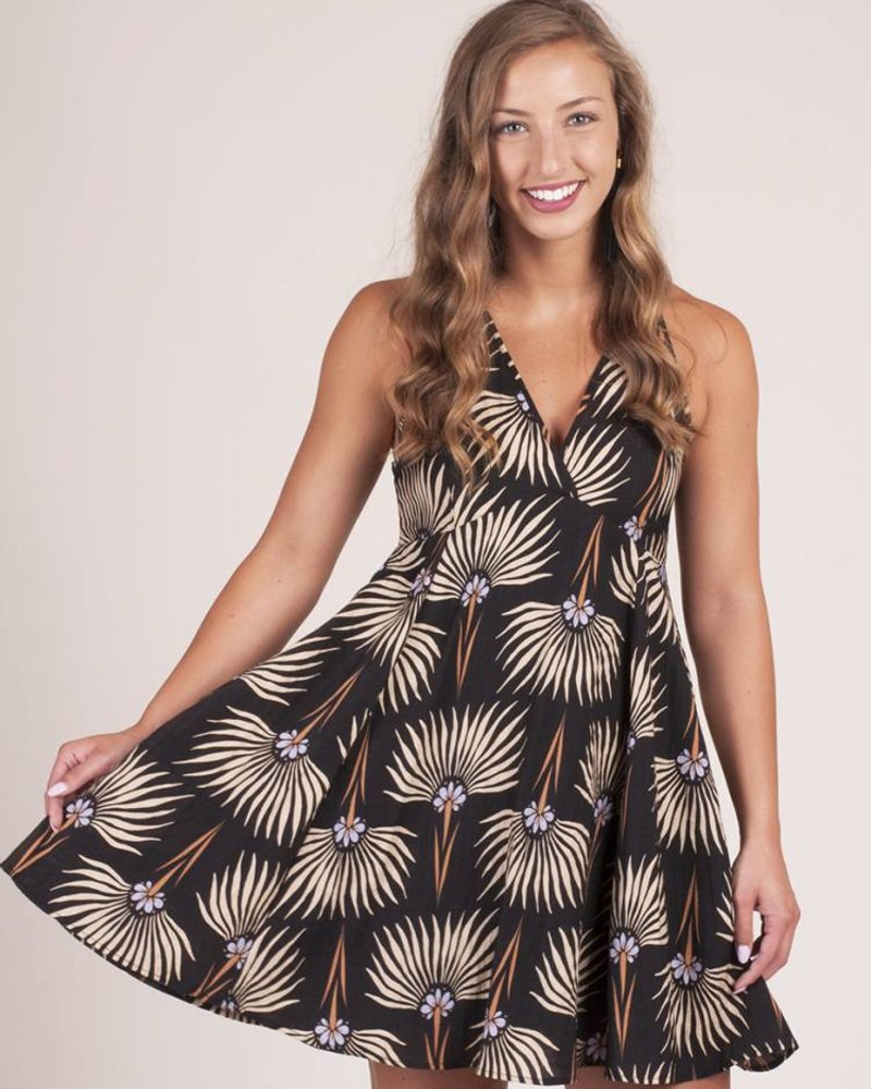 Evelyn S/L Print Skater Dress