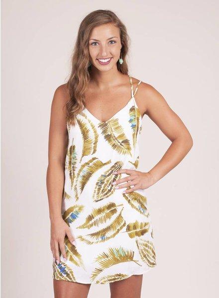 Harper S/L Leaf Print Dress