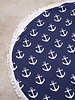 Navy Anchor Round Towel