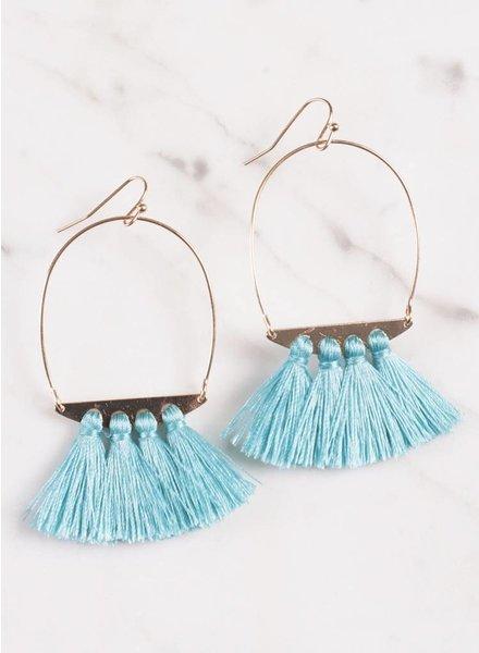 Ann Paige- Iris Tassel Earring