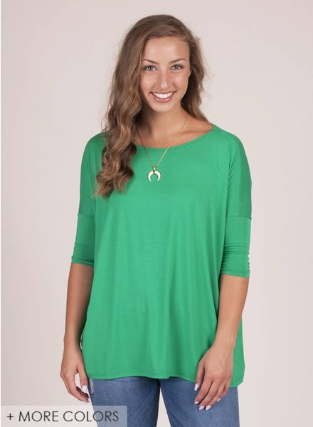 Piko - 3/4 Drop Shoulder Top