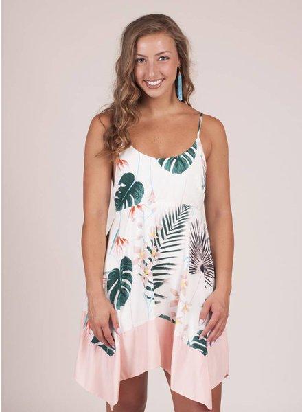 Zoey Floral Print Asymmetrical Hem Dress