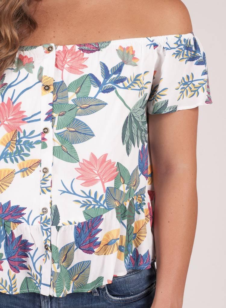 Scarlett OTS Floral Top
