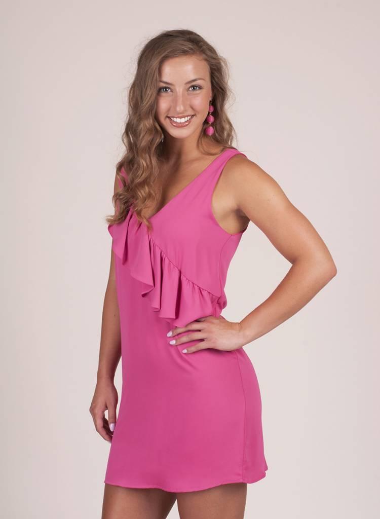 Sofia S/L Ruffle Shift Dress