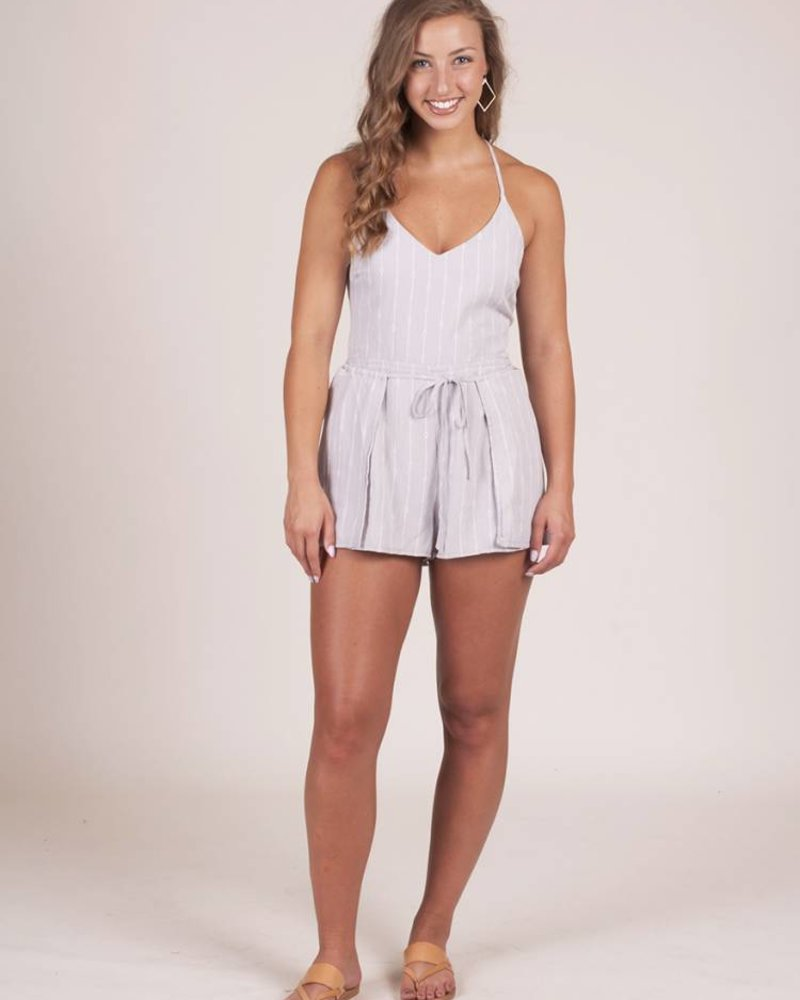 April Tie Front Romper