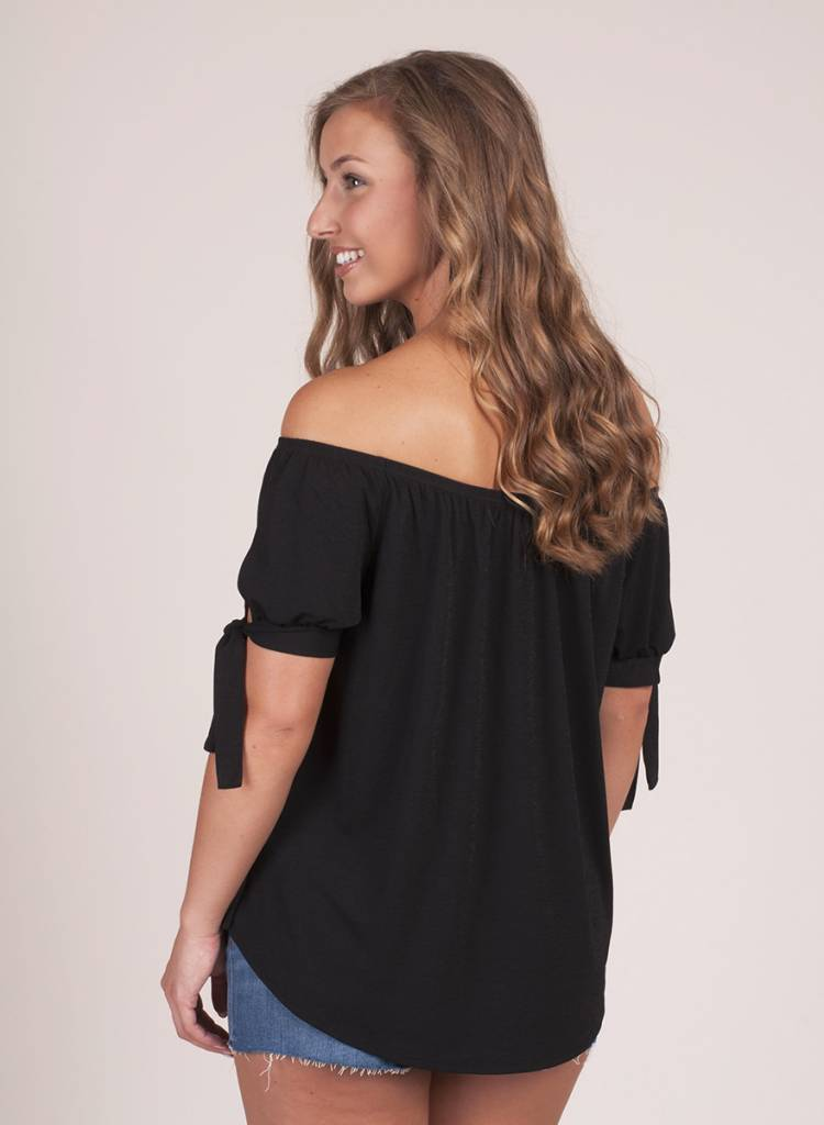 Carly Tie Sleeved OTS Top