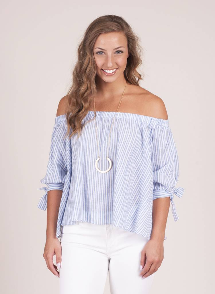 Colleen OTS Striped Top