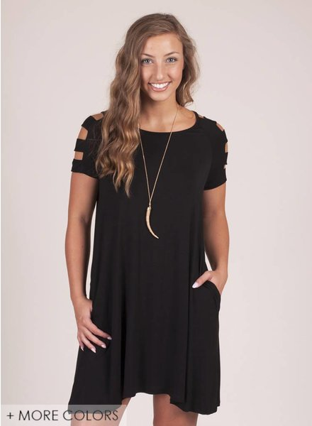 Jackie Ladder Sleeve Dress