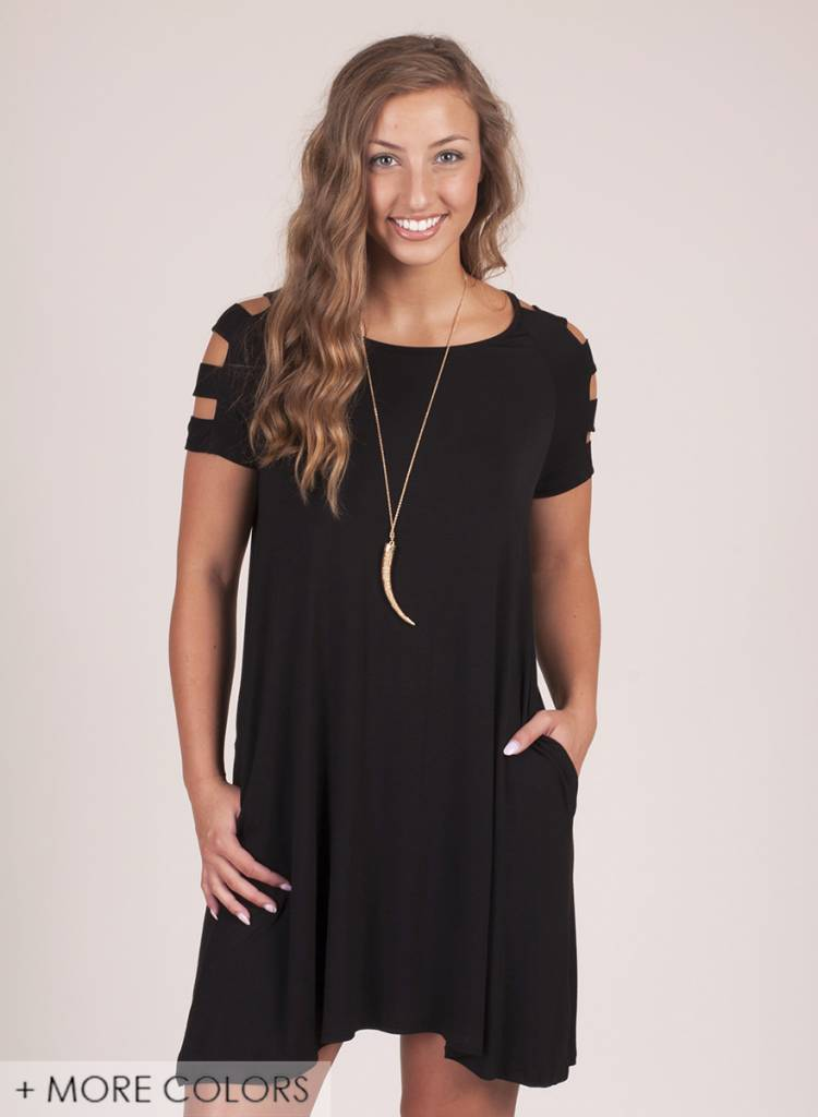 Jackie Ladder Sleeve Dress