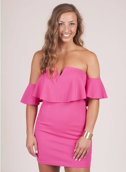 Julia OTS Deep VNeck Dress