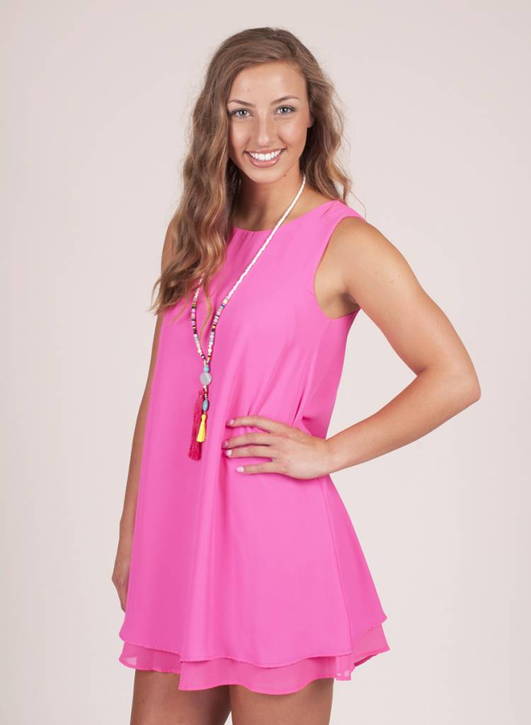 Kennedy Layered Tank Trapeze Dress