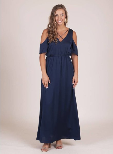 Elena Cold Shoulder Maxi