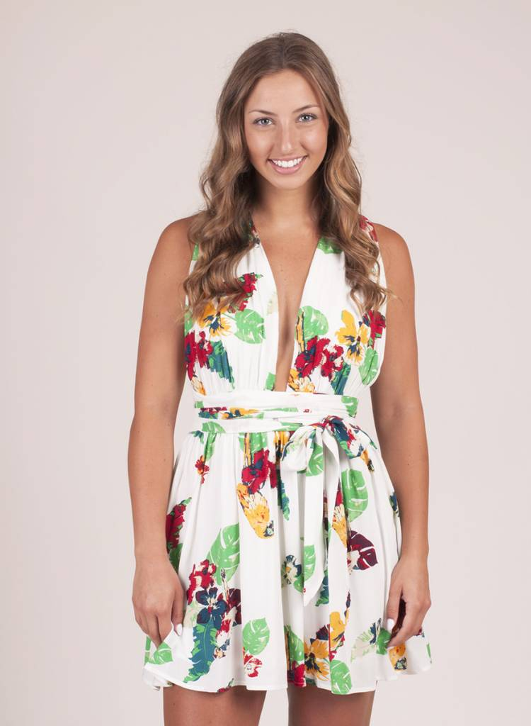 Marilyn Floral Cross Back Dress