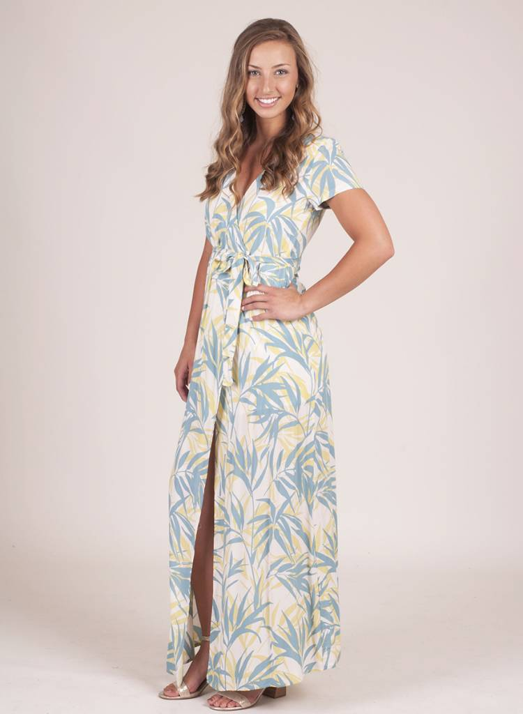 Maria Breezy Palm Tree Wrap Maxi