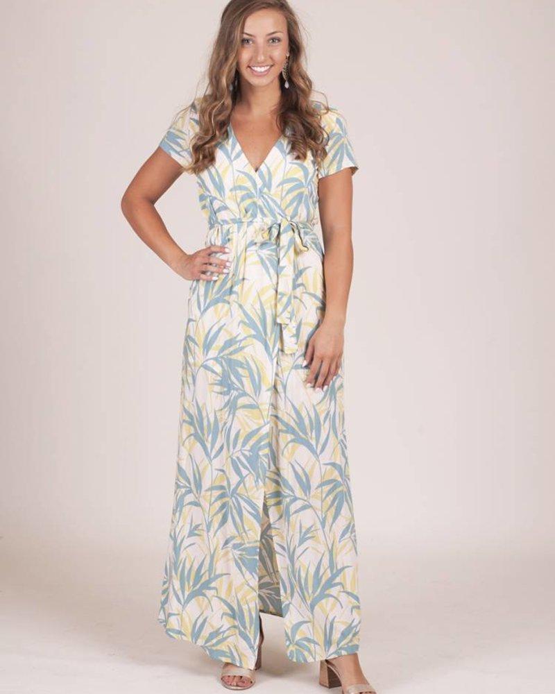 Maria Breezy Palm Tree Wrap Maxi