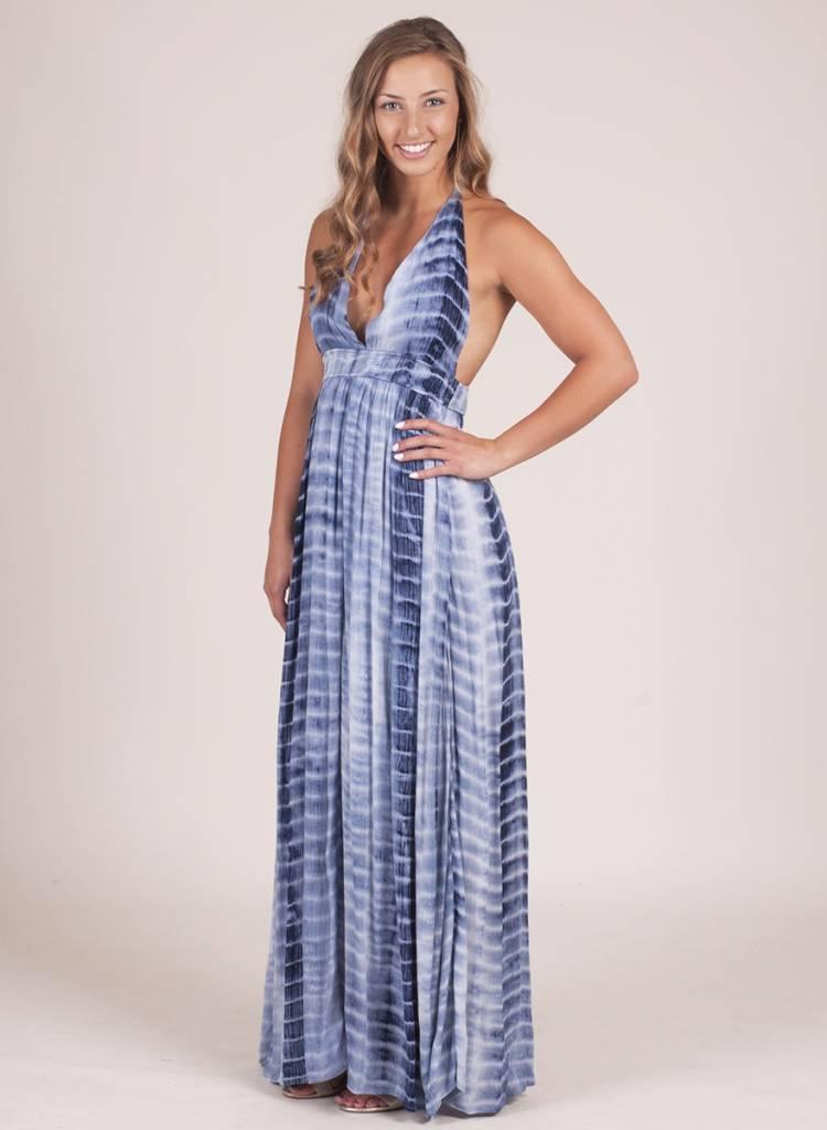 Genesis Tie Dye Plunge Maxi Dress