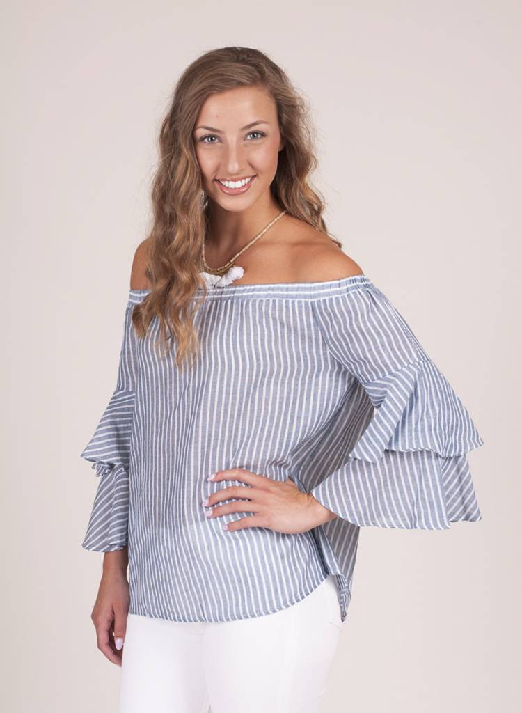 Madison Layered Bell Sleeve Top