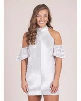 Alivia Cold Shoulder Chainlink Dress