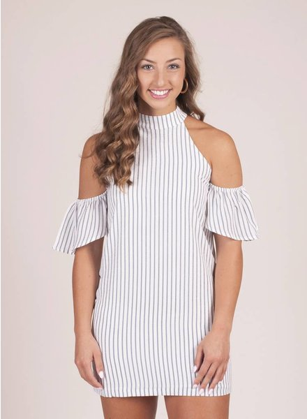 Alivia Cold Shoulder Chainlink Dress
