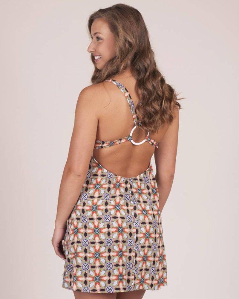 Callie Retro Floral Tank Dress