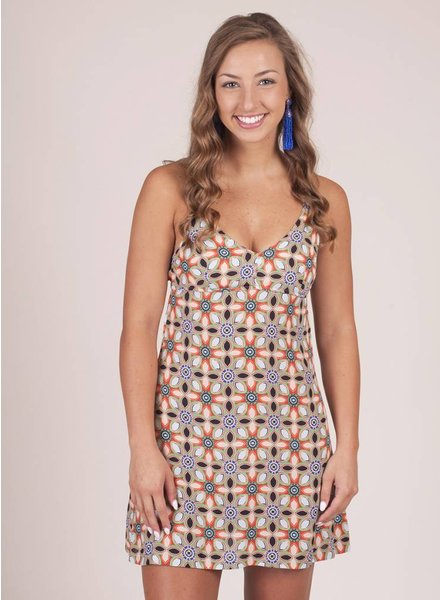 Callie Retro Floral Tank Dress
