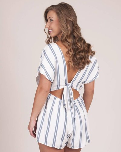 Eliza Striped Cut Out Romper