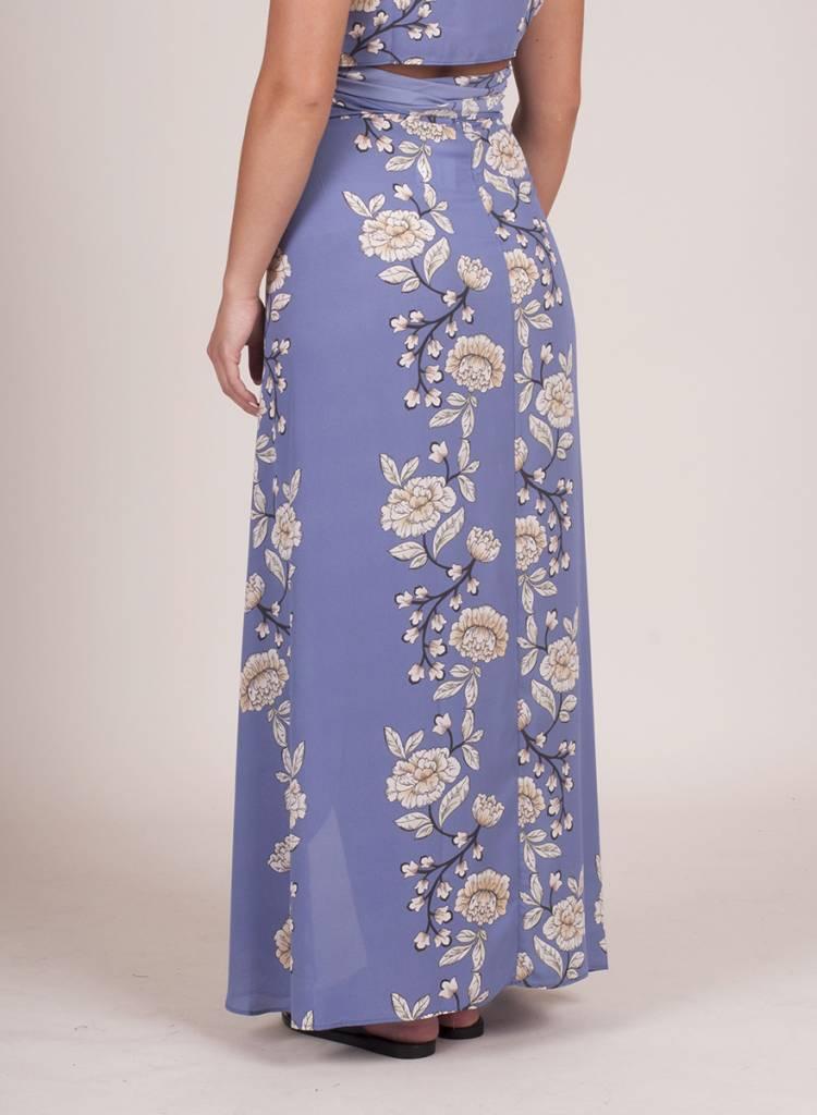 Lila Floral Wrap Skirt