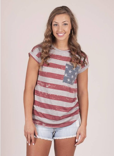 Jefferson Stars & Stripes Cuffed Tee