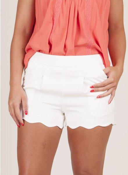 Michelle Scallop Shorts