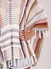 Ryann Striped Crochet Poncho