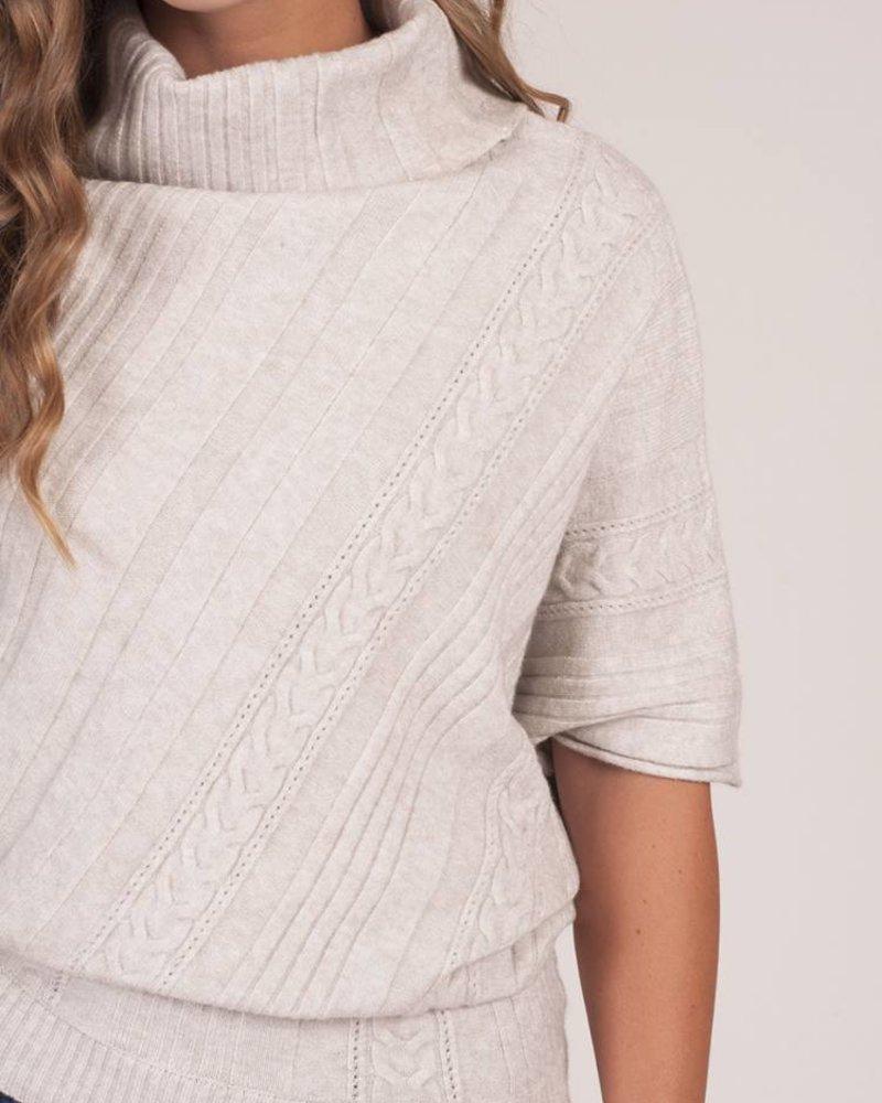 Tess Asymmetrical Poncho Sweater